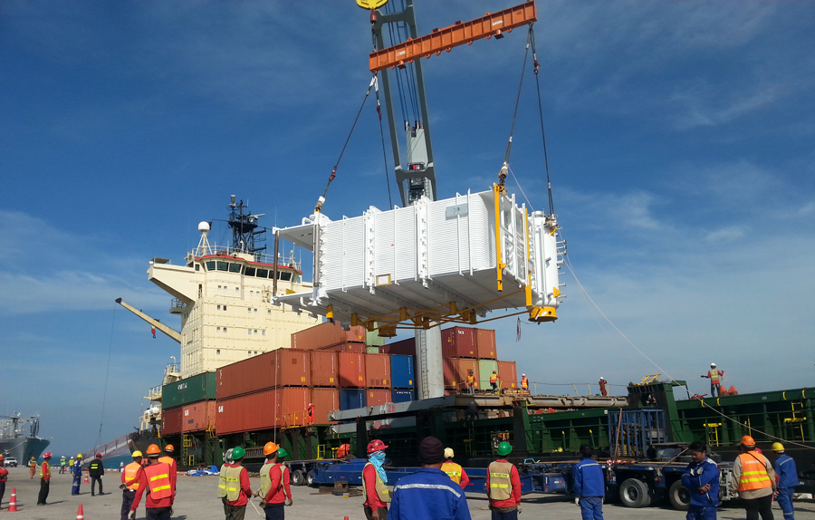 Transportation of 70t Boiler Thailand to NZ